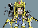 Ripley con Power Loader y Alien